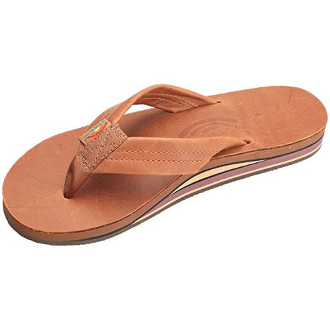Rainbow Sandals Women's Classic Leather - Tan With Brown Double Layer