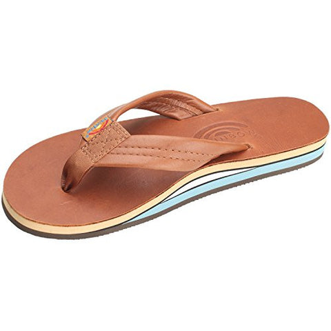 Rainbow Sandals Women's Double Layer Wide - Straptan/Blue