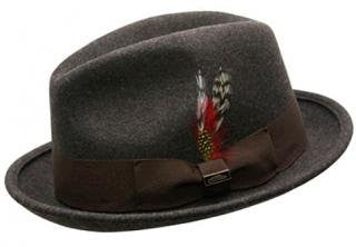 Conner:  Brown Mix Soho Wool Fedora