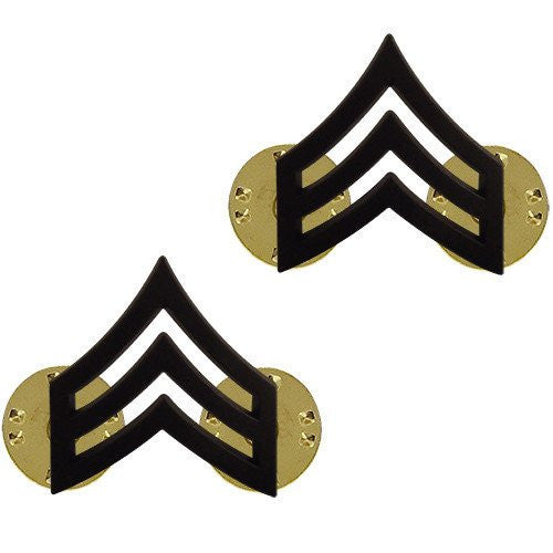 Army Chevron: Sergeant - Black