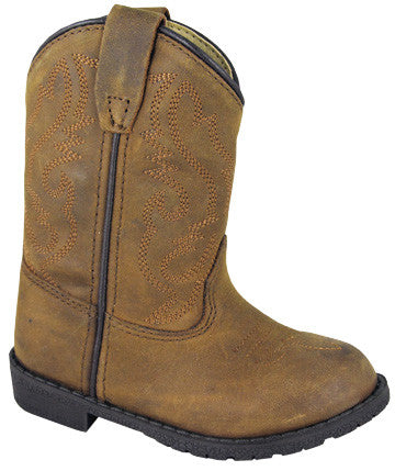 Smoky Mountain Toddler Hopalong Leather Boots - Brown