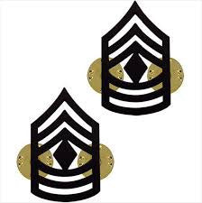 Army Chevron: First Sergeant - Black