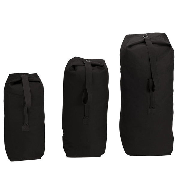 Fox Bags: Top Load Duffle Bags Black
