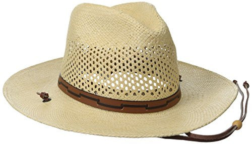99fd0b30 Stetson Men's Stetson Airway Vented Panama Straw Hat - Natural ...