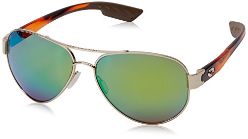 Costa Del Mar South Point Polarized Iridium Aviator Sunglasses, Rose Gold Withlight Tortoise