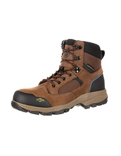 Georgia Boots: Men's Blue Collar Composite Toe Waterproof Work Boots, Brown