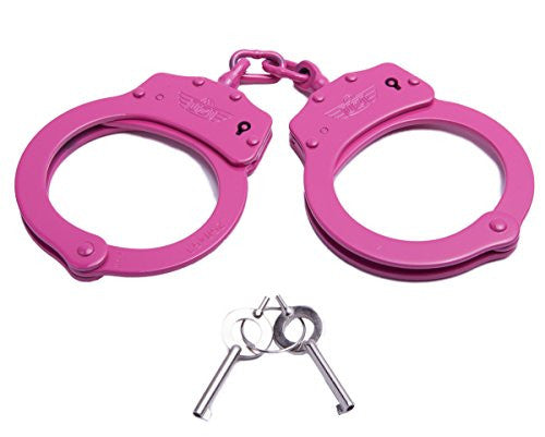 Uzi Pink High Tensile Steel Handcuffs With Two Keys, Pink