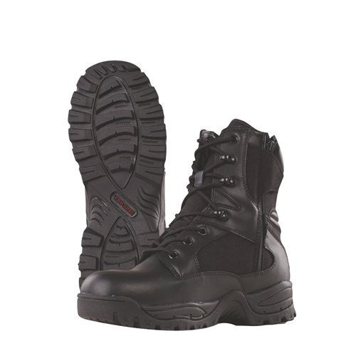 "Tru-spec 9"" Tactical Assault Side Zipper Boot, Leather And Cordura Nylon"