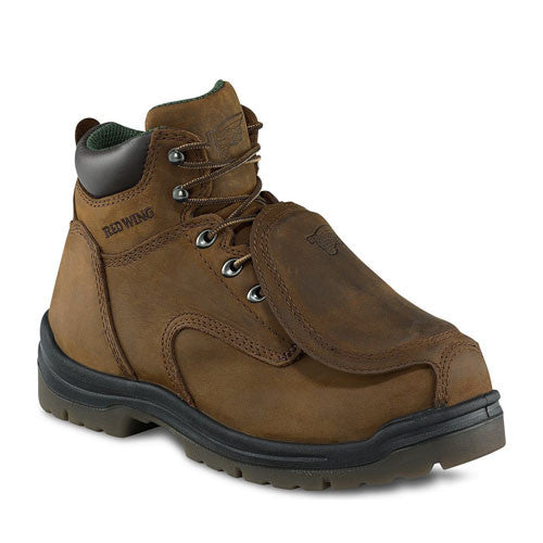 "Red Wing Boots: 6"" Metguard Boot Brown"