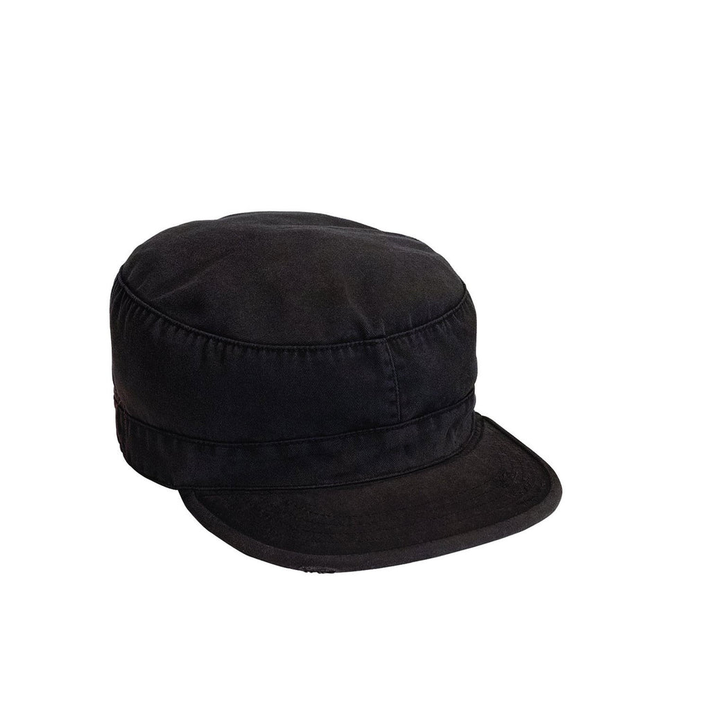 Rothco Hats: Solid Vintage Fatigue Cap Black