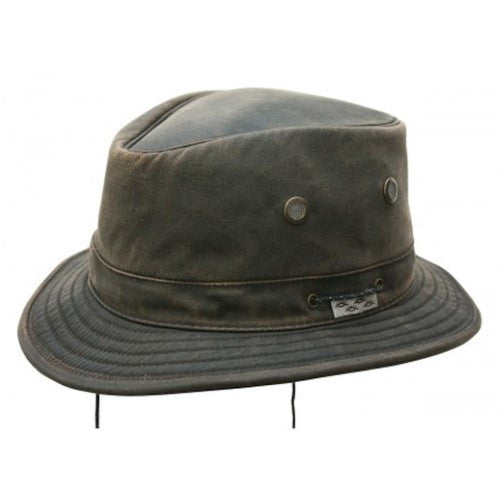 Conner: Jonathan Water Resistant Boater Hat Brown Medium