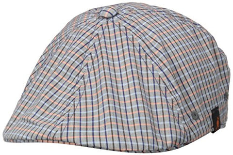 Kangol Hats: Plaid Flexfit 504 - Mini Check (Blue / Orange)