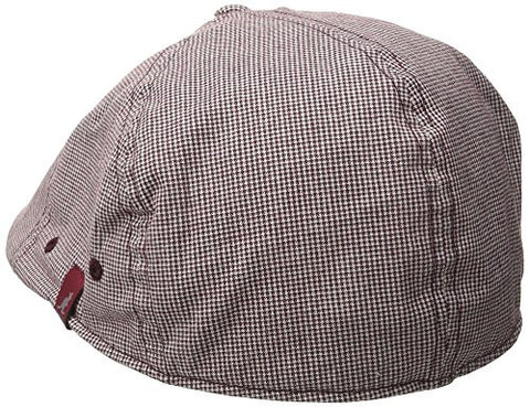 Kangol Hats: Plaid Flexfit 504 - Micro Gingham (Burgundy)
