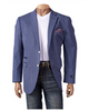 INSERCH BLAZER JACKET COTTON W/ CONTRAST ELBOW PATCH