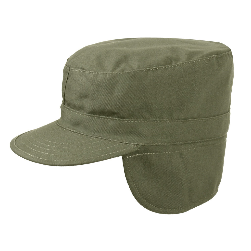 Rothco Hats: Combat Caps w/ Ear Flaps Olive Drab