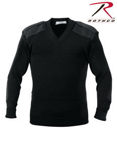Rothco G.I. Style Acrylic V-Neck Sweater - Black