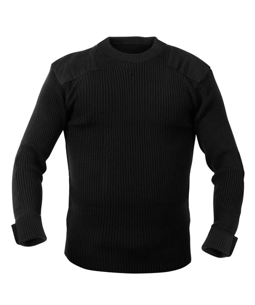 Rothco Sweaters: G.I. Style Acrylic Commando Sweater - Black