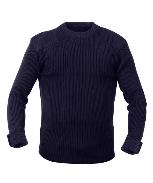 Rothco Sweaters: G.I. Style Acrylic Commando Sweater - Navy Blue