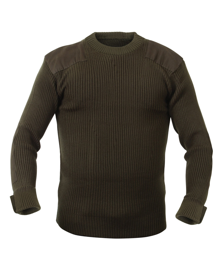 Rothco Sweaters: G.I. Style Acrylic Commando Sweater - Olive Drab