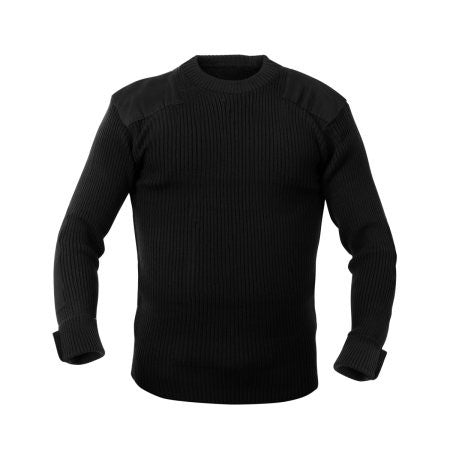 Rothco G.I. Style Acrylic Commando Sweater -Black
