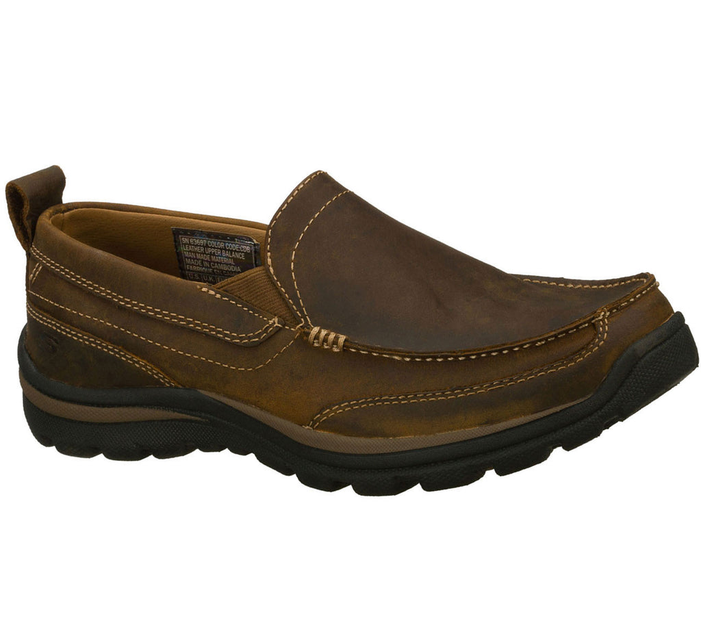 Skechers Mens Relaxed Fit: Superior - Gains Brown