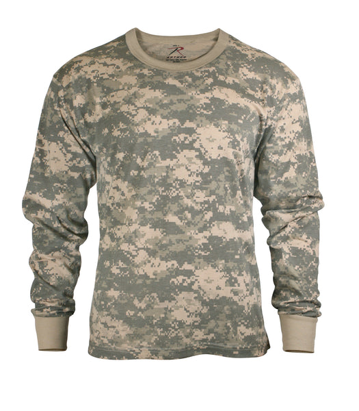 Rothco Shirts: Kids Camo Long Sleeve T-Shirt - ACU DIgital
