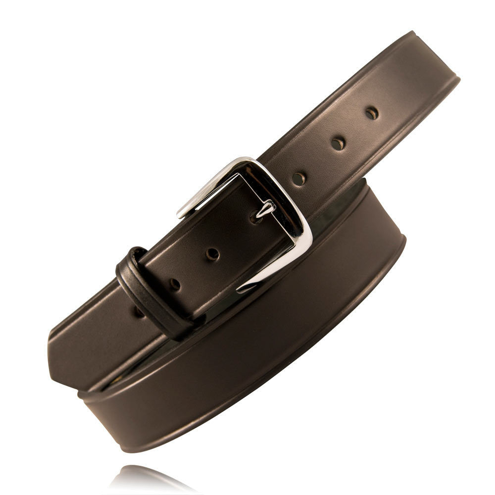 "Boston Leather 1-1/2"" No Lines Off Duty Casual Belt Black"