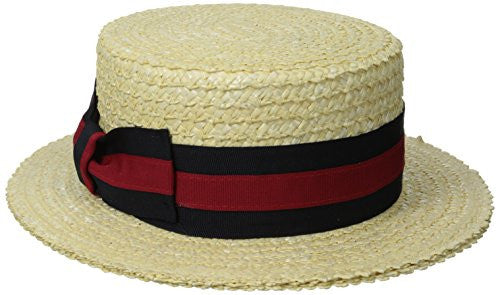 Scala Men's Laichow Braid Boater Hat - Bleach