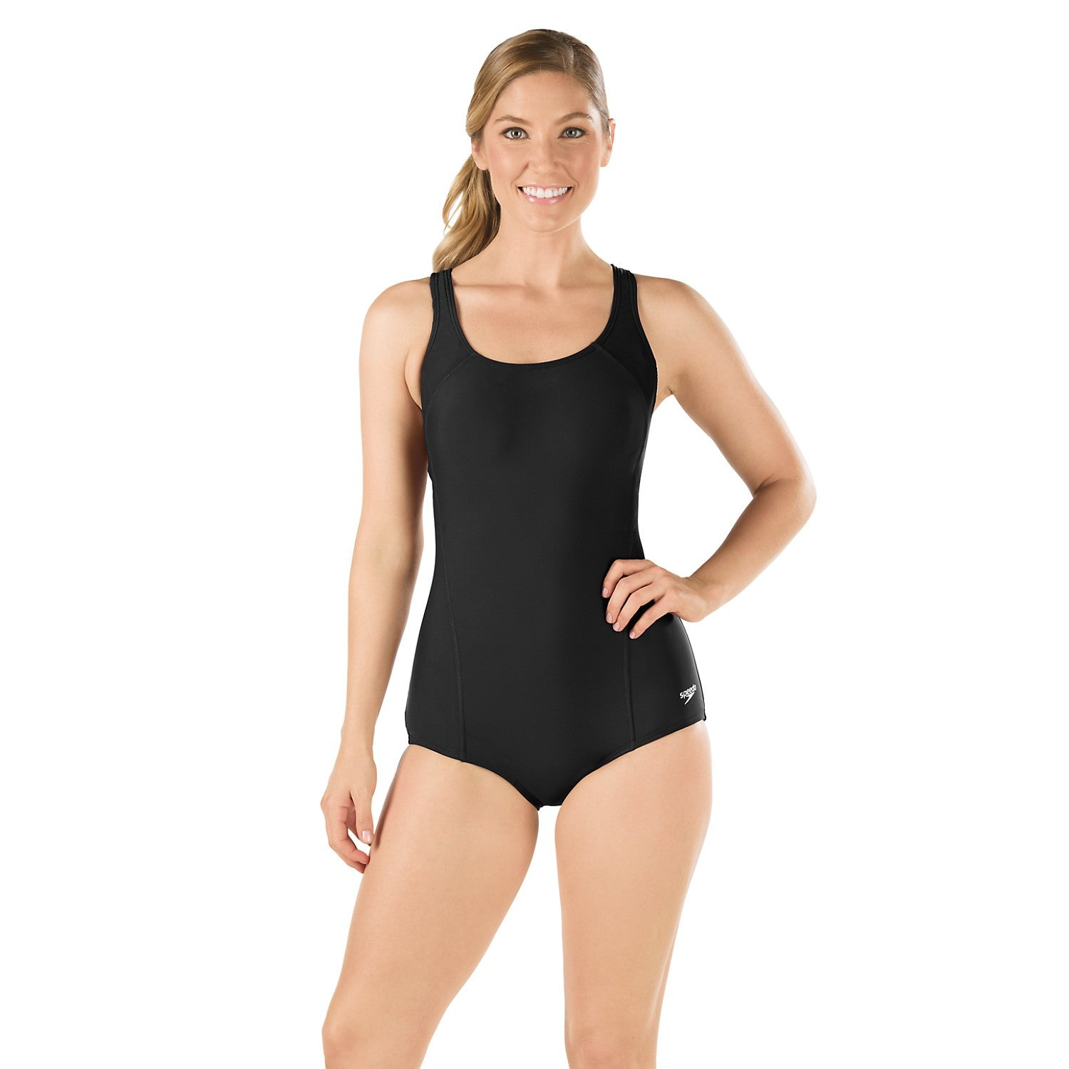 Speedo Swimsuit Conservative Ultraback With Princess Seam Powerflex Army Navy Now