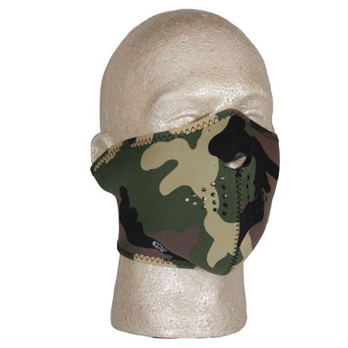 Fox Face Masks: Half Mask Woodland Camo