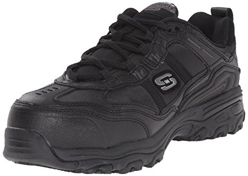 Skechers For Work Women's D'lite Slip Resistant Toliand Work Shoe - Black
