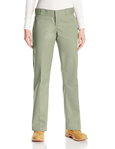 Dickies Women's Original Work Pant With Wrinkle And Stain Resistance - Khaki