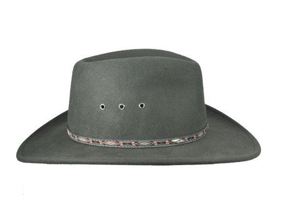 3dca494677b6d Stetson Hats  Elkhorn Crushable Wool Fedora with Eyelets Olive ...