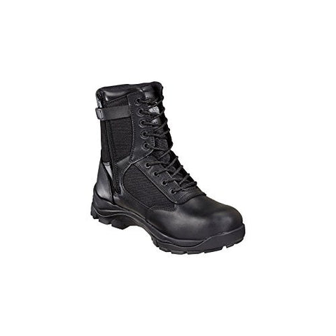 Thorogood Men's Side Zipper 8in Uniform Boots - Black