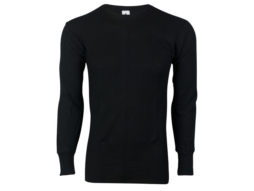 Indera: Heavyweight Thermal Long Sleeve Shirt Black