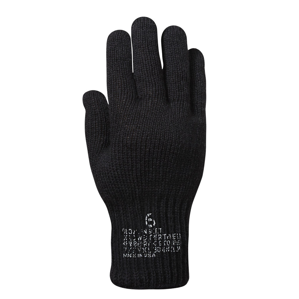 Rothco Gloves: G.I.Wool Glove Liners - Black