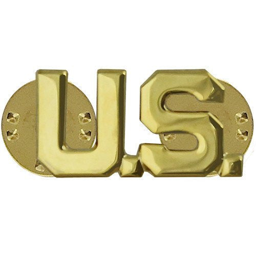 Army Officer Branch of Service Collar Device U.S. Letters
