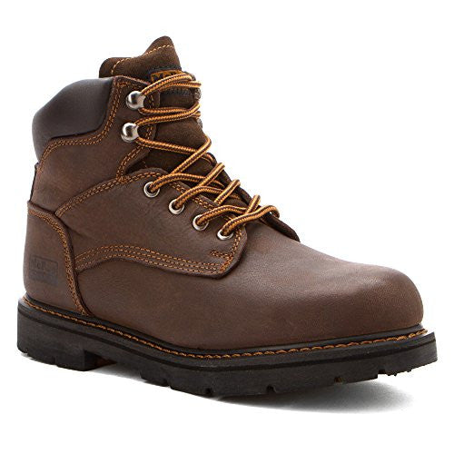 b05b062cb1f Mcrae Industrial Mens Brown Volcano 6in Lace-up Steel Toe Work Boots