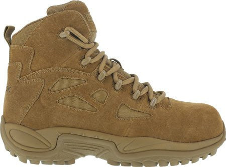 "Reebok Boots: Men's Stealth Rapid Response 6"" RB8650 Side Zip Boot - Coyote"