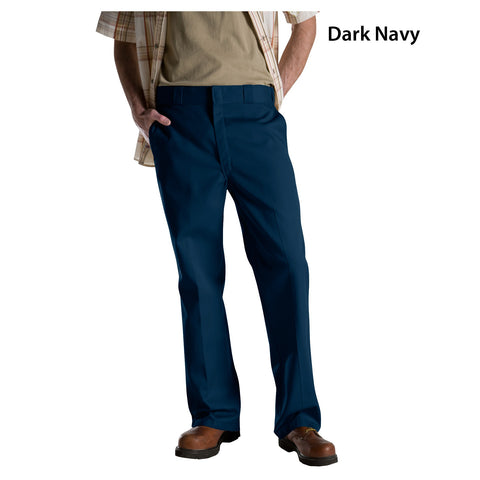 Dickies Pants: Men's Wrinkle Resistant Original 874 Work Pant Dark Navy