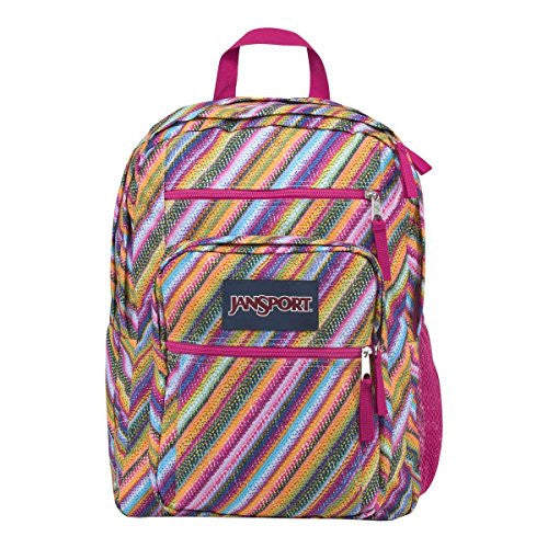 Jansport Womens Classic Mainstream Big Student Backpack - Multi Texture Stripe