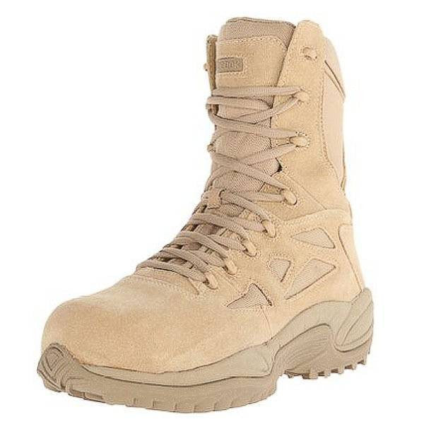 REEBOK BOOTS: MEN'S STEALTH COMPOSITE TOE SIDE ZIPPER BOOTS RB8894