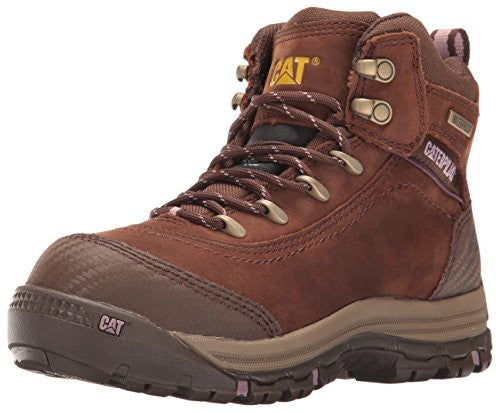 "Caterpillar Women's Ally 6"" Wp Ct Industrial And Construction Shoe - Brown"