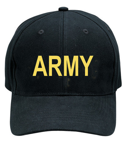 Rothco Hats: Army Low Profile Cap - Black