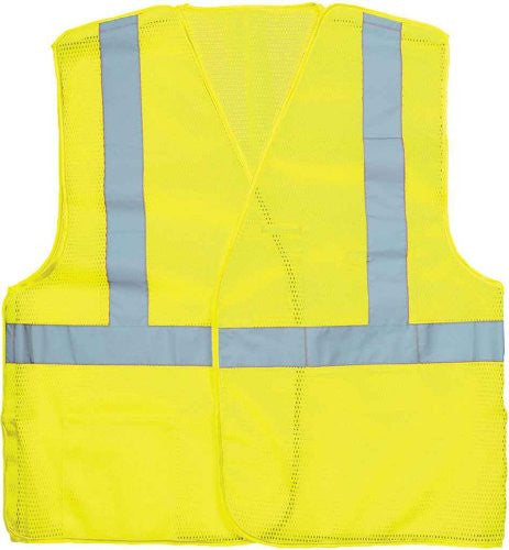 Key 98 Men's Class 2 Hi-Vis Break-a-way Mesh Vest Hi-Vis Yellow