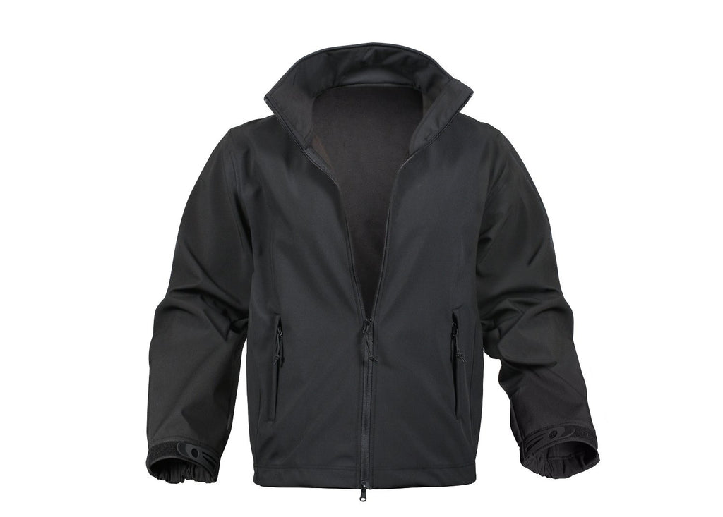 Rothco Black Soft Shell Uniform Jacket