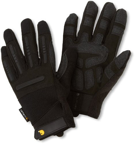 Carhartt Men's Ballistic Spandex Work Glove With Knuckle Protection - Black