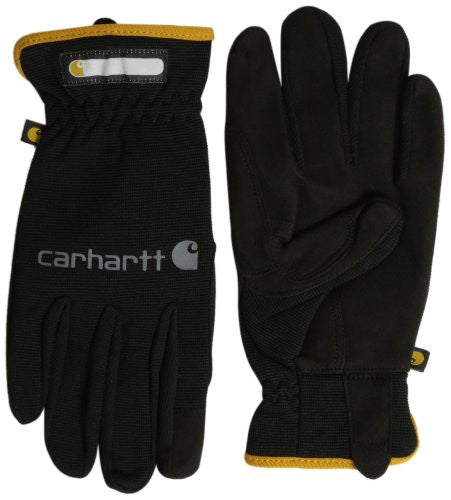 Carhartt Men's Work Flex Spandex Work Glove With Water Repellant Palm - Black