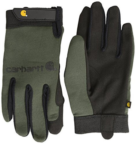 Carhartt Men's The Fixer Spandex Work Glove With Water Repellant Palm - Army