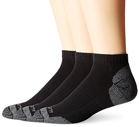 Carhartt Men's 3 Pack Cotton Low Cut All Season Work Socks - Black